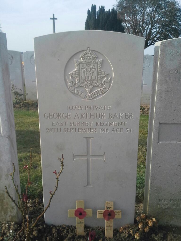 PTE GEORGE ARTHUR BAKER GROVE TOWN.JPG